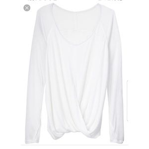 ATHLETA Nevaeh Layerd Long Sleeve White Top